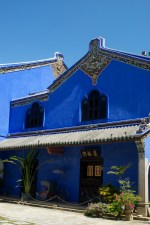 The Blue Manson, what once was a private residence for a Chinese diplomat and his Malaysian wife that became a boutique hotel once it was restored