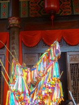 Prayer flags at the temple