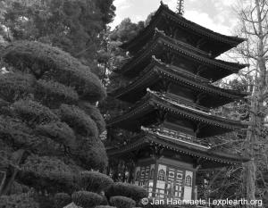 The Pagoda in the Japanese Tea Garden, San Francisco (Photo: Jan Haenraets, 2013).