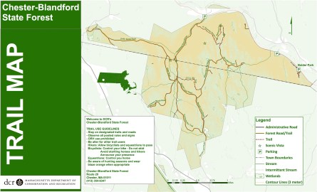 Map Chester-Blandford State Forest