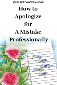How to Apologize for A Mistake Professionally