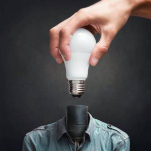 Positive thinking lights your creative bulb