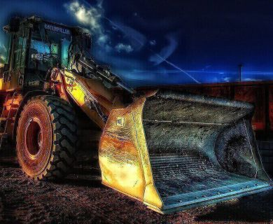 An excavator for construction