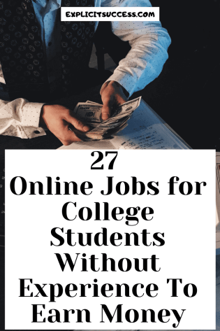 27 Online Jobs for College Students Without Experience To Earn Money