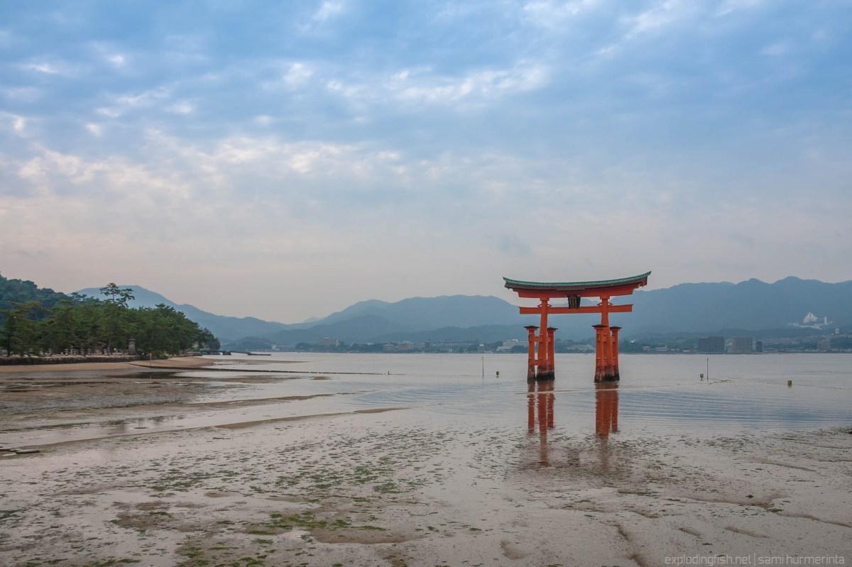 Cloudy day at Itsukushima Shrine