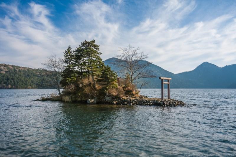 A shrine island on Lake Shikaribetsu