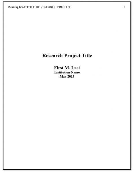 APA style research paper outline FAMU Online