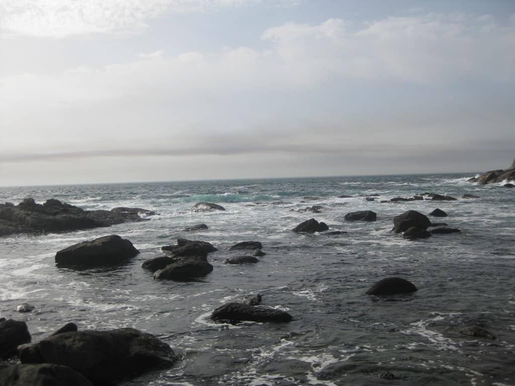Rochas junta a uma das praias das Ilhas Cíes