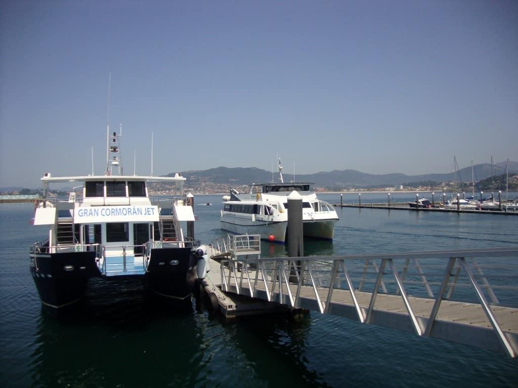 ferry que apanhámos em Baiona para as Ilhas Cíes