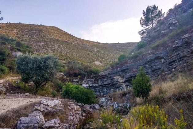 Cascata da Fórnea em Alcaria, Porto de Mós, seca durante o verão