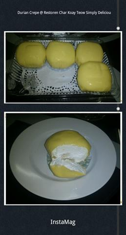 Durian Crepe yang best