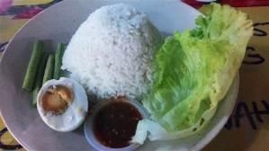 gambar nasi putih telur masin