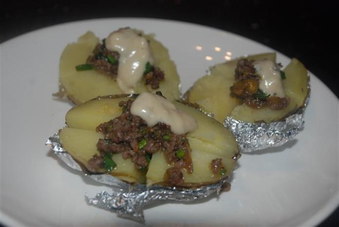 kentang dengan daging cincang