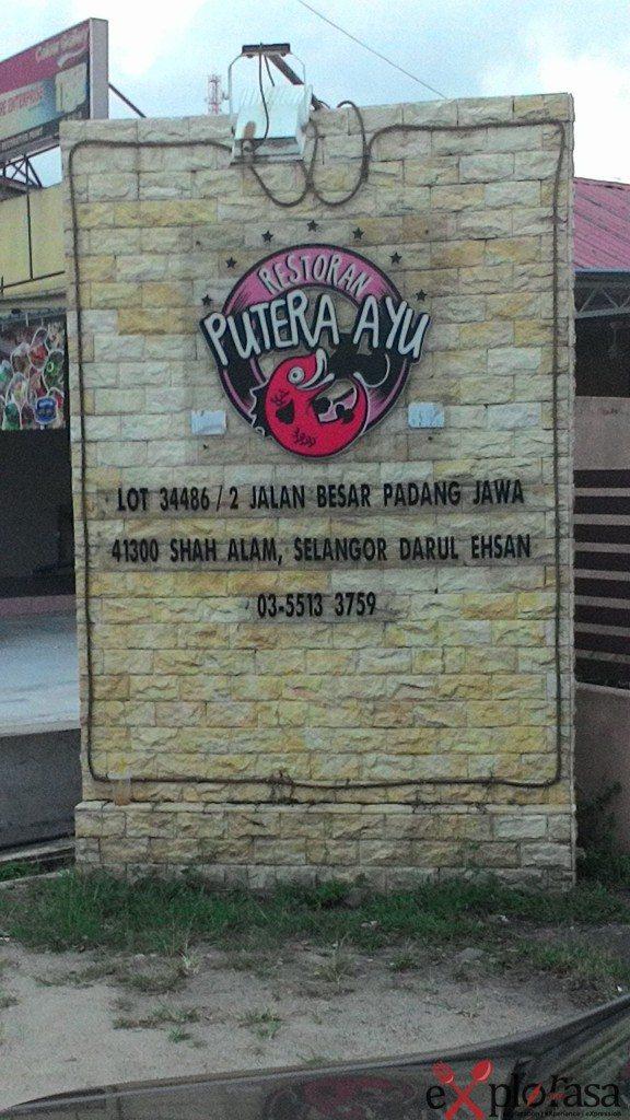 signboard restoran puteri ayu
