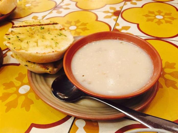 Soup and Garlic Bread