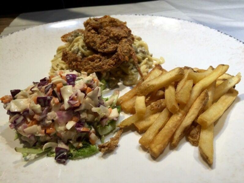 Fried Soft Shell Crab with Carbonara Spaghetti – RM23.90