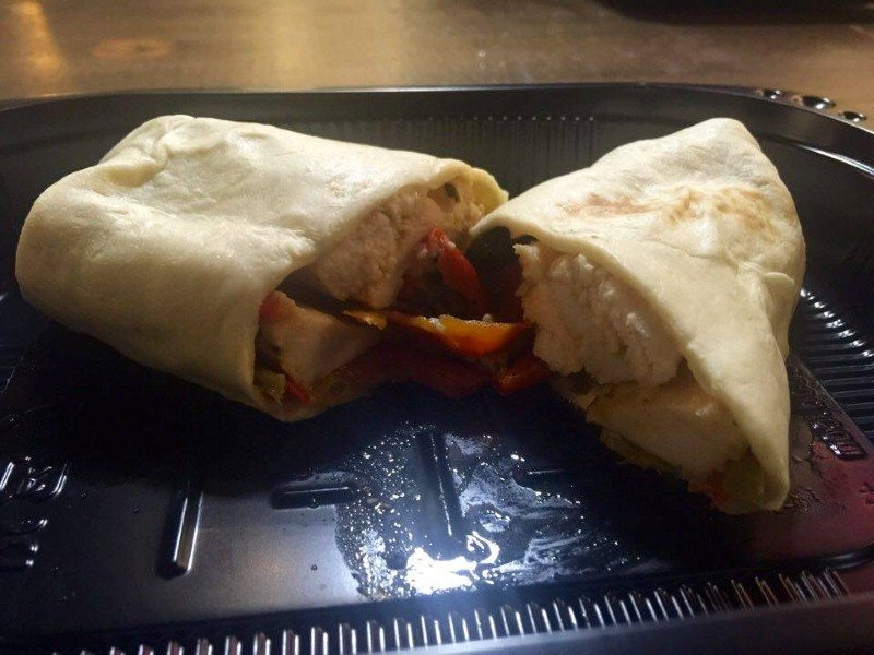 Cajun Chicken Wrap, Black Beans & Roasted Pepper
