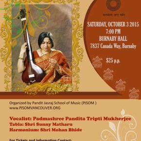 Padmashree Pandita Tripti Mukherjee Concert