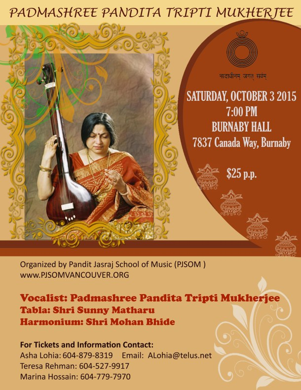 Tripti Concert - Oct 2 2015