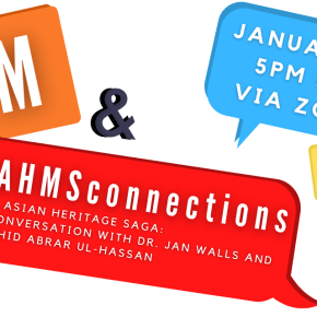 Join us for our AGM and a special VAHMSconnections on January 10th