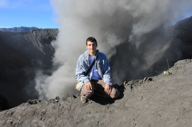 Active crater of the Bromo Volcano, Indonesia