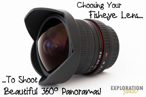 Fisheye lens for 360 panorama