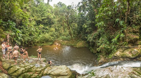 Natural pool next to the Adan Camp