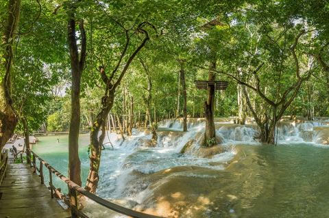 Day Trek Through The Laotian Countryside To The Picturesque Tad Sae Waterfall