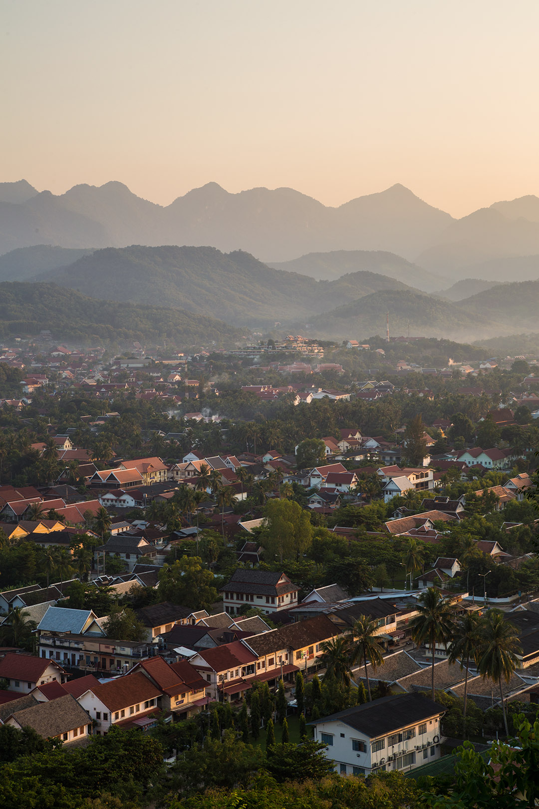 Golden hour in Laos