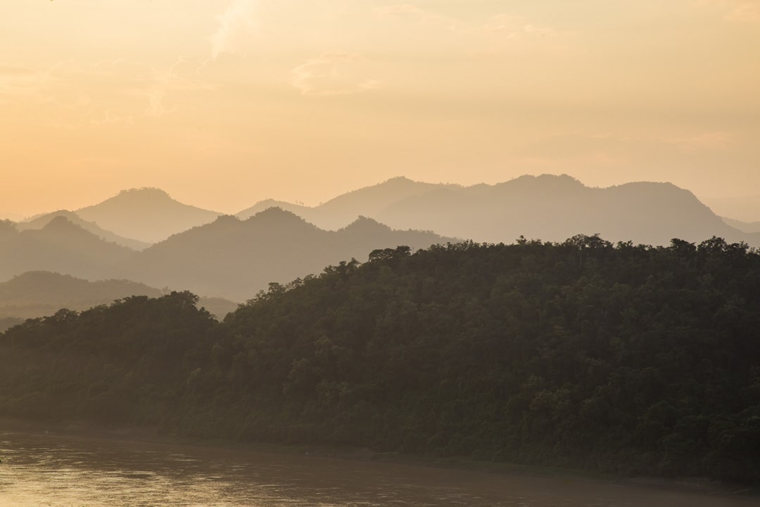 Golden light on the Mekong