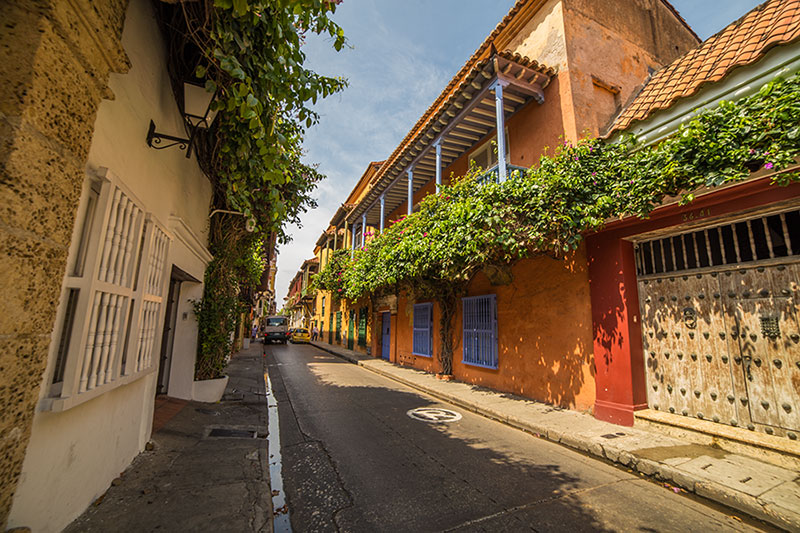 Cartagena street, Colombia