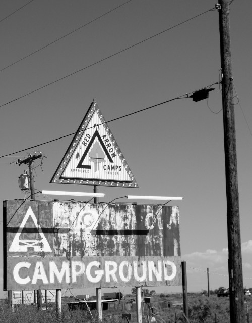 Campground Sign. Route 66.