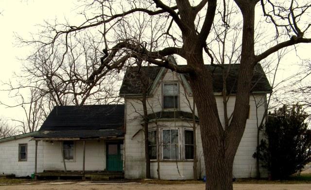 Rope Swing. Abandoned House