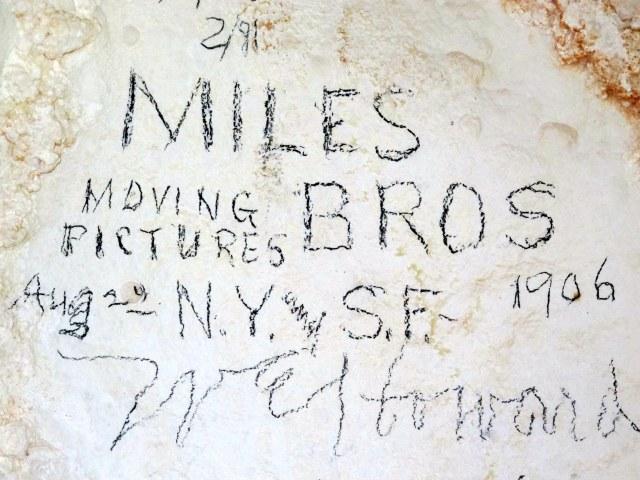 Historical Graffiti. Cave of Domes.