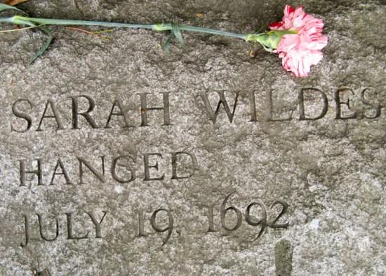 """Witch"" Sarah Wilde Memorial"
