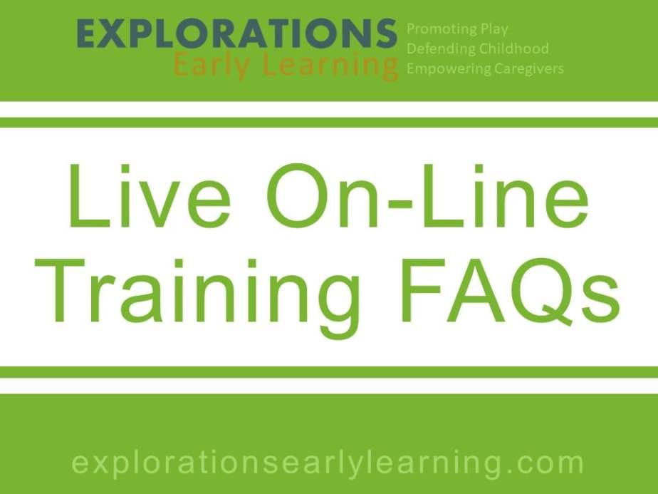 Live On-Line Training FAQs