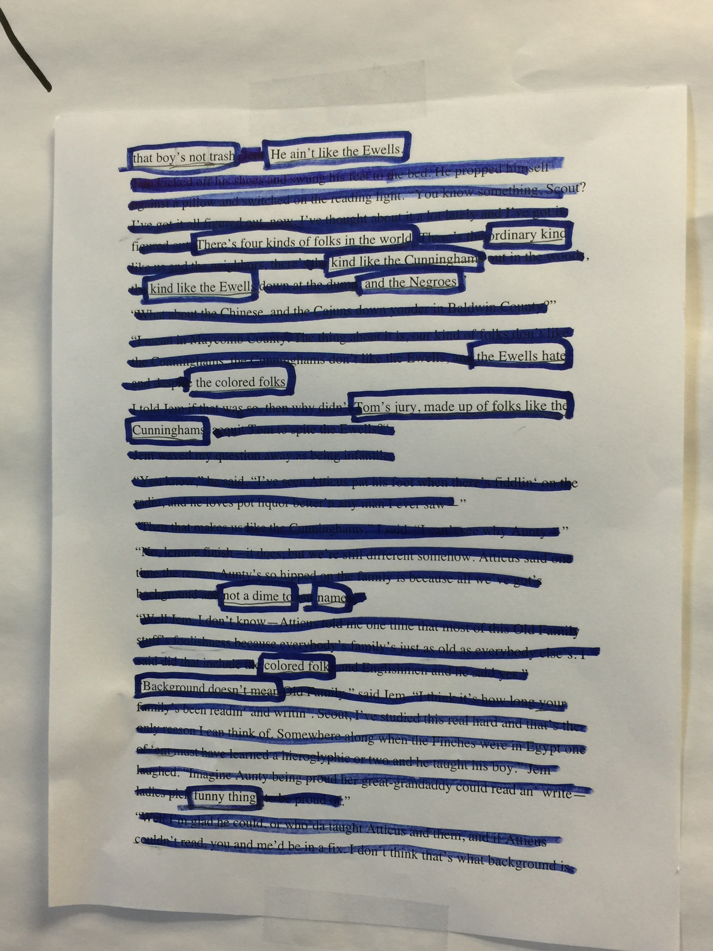 Blackout Poetry for Character Analysis – Explorations in Literacy
