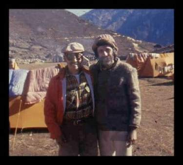 My father with Tenzing Norgay