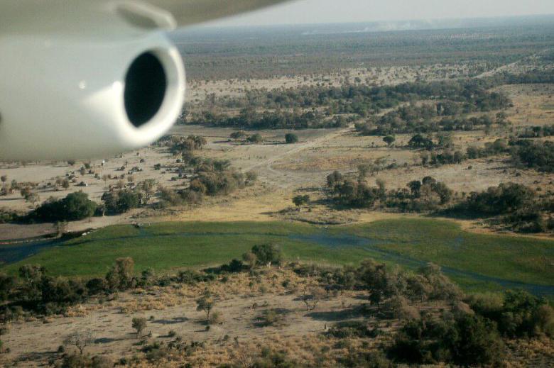 Botswana Okavango - ExplorationVacation - 09-19 aerial1