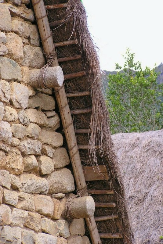 Machu Picchu Peru - ExplorationVacation P1010145 roof detail