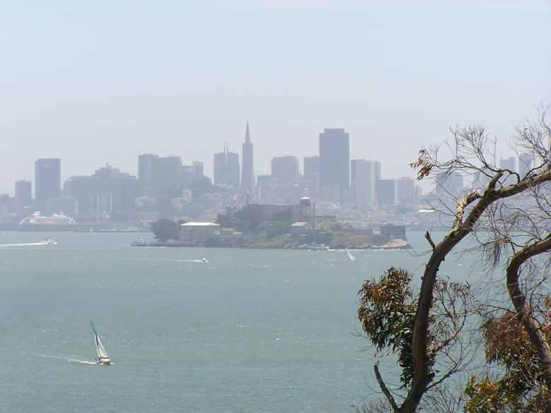 view of the city over Alcatraz