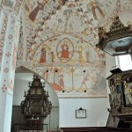 Paintings in Denmark's Fanefjord Church were created in the 15th century by an artit known today only as the Elmelunde Master - ExplorationVacation