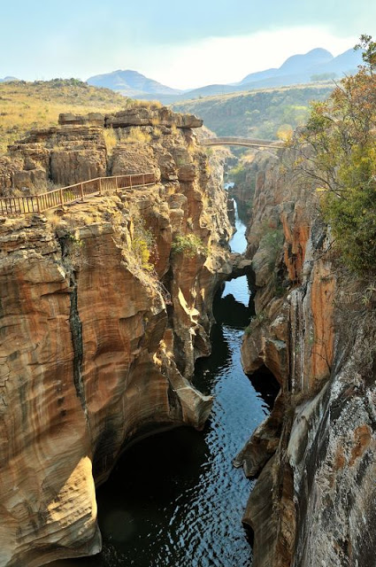 Bourke's Luck Potholes on the Panorama Route South Africa - www.ExplorationVacation.net