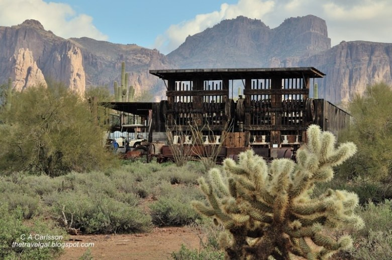 20-stamp ore mill Superstition Mountain Museum Arizona @www.ExplorationVacation.net