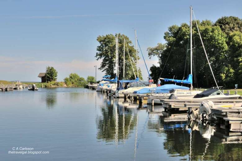 dock at Trapper's Bay on Leech Lake Minnesota