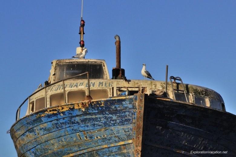 Morocco 6 DSC_8160 blue boats in Essaouira's harbor