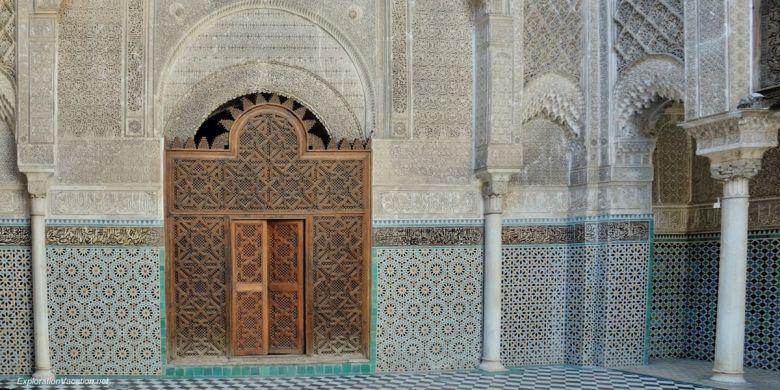 El-Attarine Medersa in Fès Morocco -6 DSC_1155