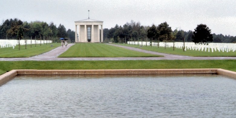 Normandy memorial and graves