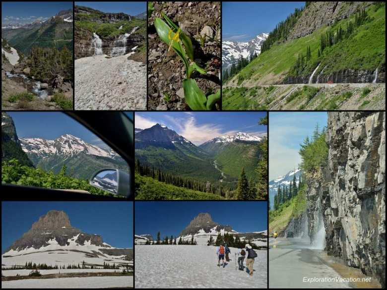 Collage - July 9 - Going to the Sun Road - ExplorationVacation