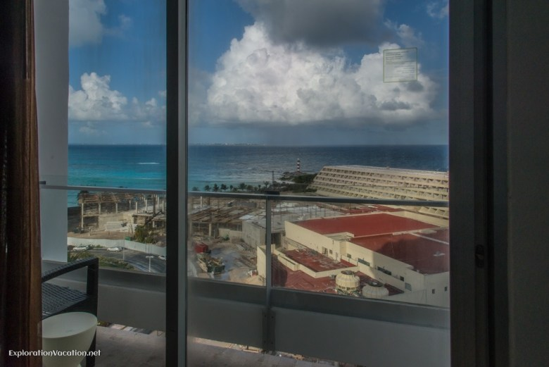 View from our room at the Krystal Grand in Cancun Mexico - ExplorationVacation.net